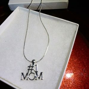Jewelry - Number # 1 MOM on Delicate Chain